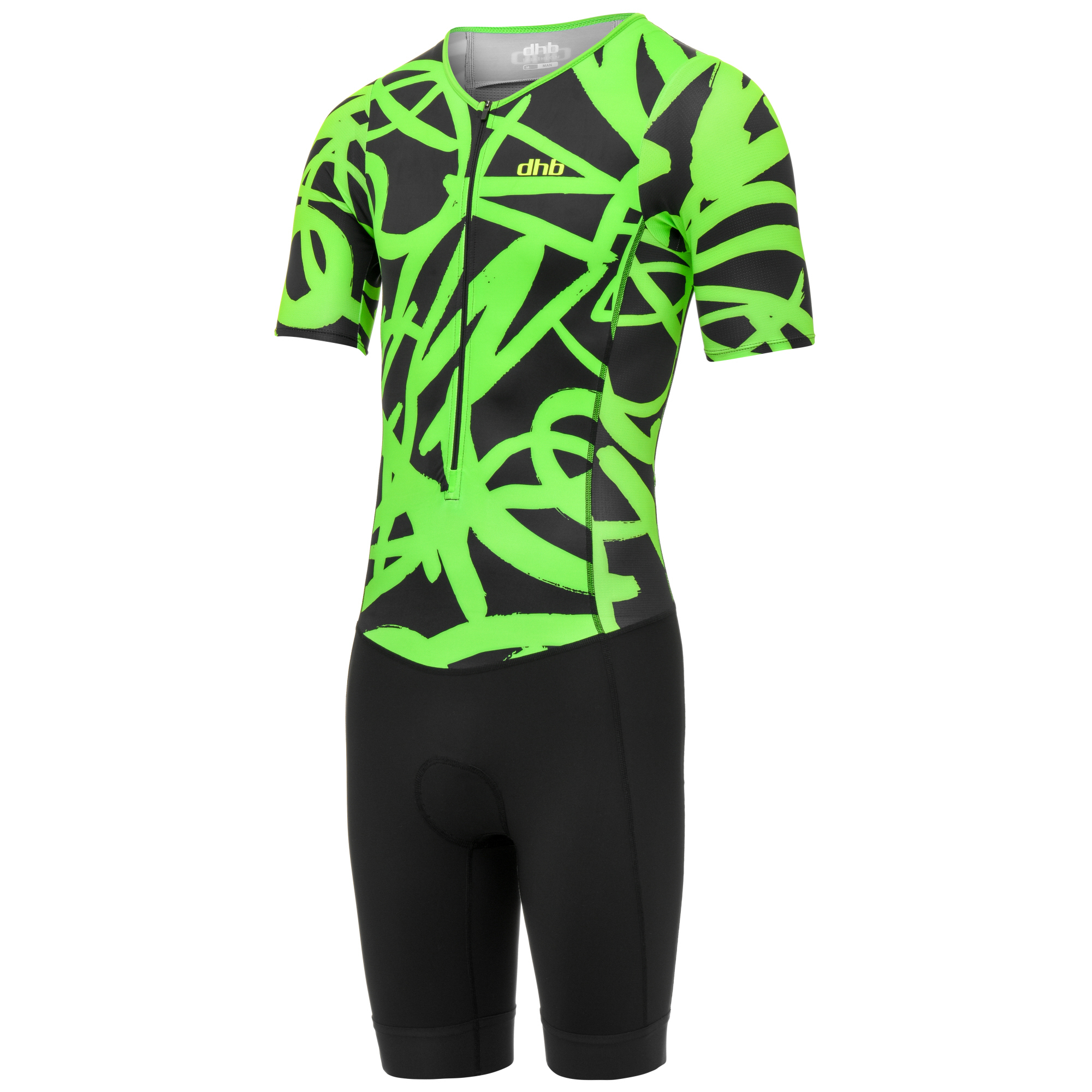 dhb Blok Short Sleeve Tri Suit - JAZZ | swim_clothes