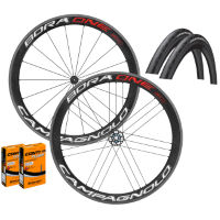 Campagnolo Bora One 50 Clincher Wheels GP4000s II Bundle
