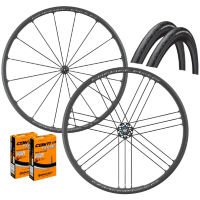 Campagnolo Shamal Mille C17 Clincher Wheels GP4000s II Bundle