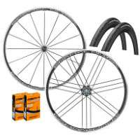 Campagnolo Shamal Ultra C17 Shimano Wheels GP4000s II Bundle