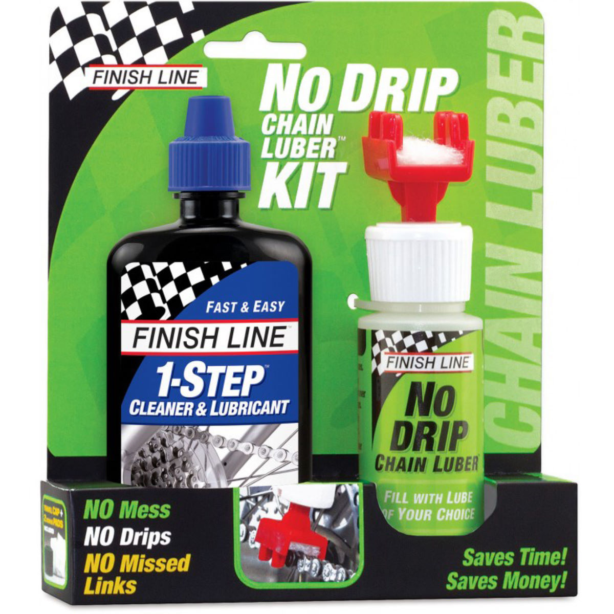 Finish Line Finish Line No Drip & 1Step Lube Combo   Lube