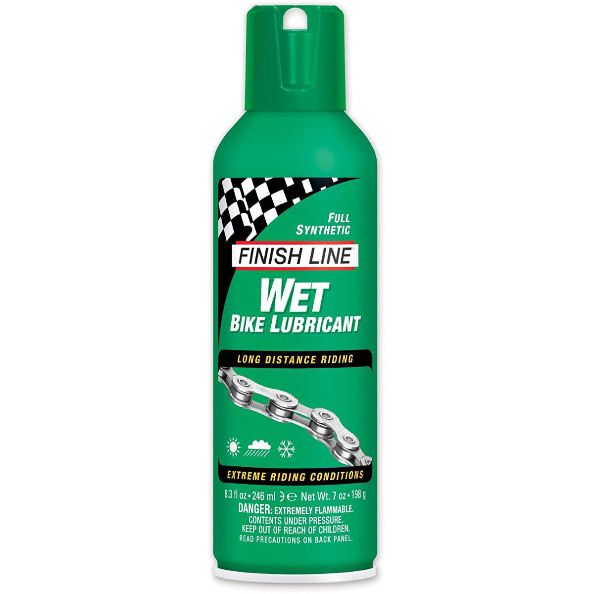 Finish Line Finish Line Cross Country Wet Chain Lube Aerosol   Lube
