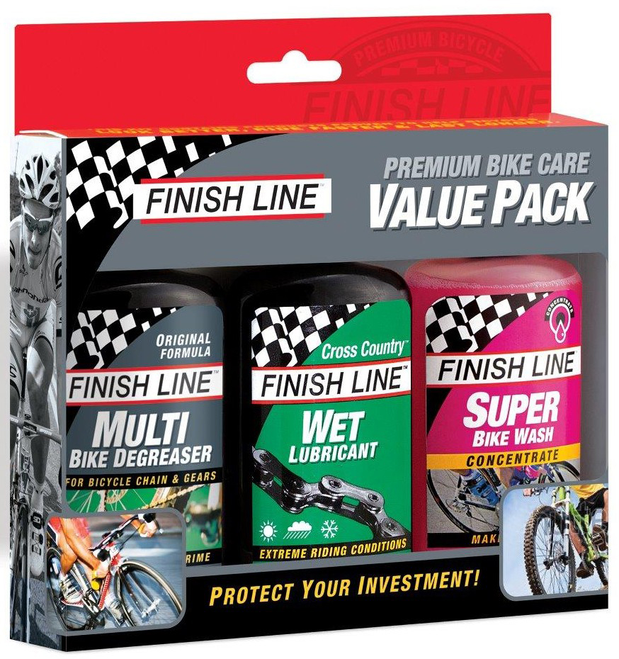 Finish Line Bike Care Value Pack (Wet/Wash/Multi) | polish_and_lubricant_component