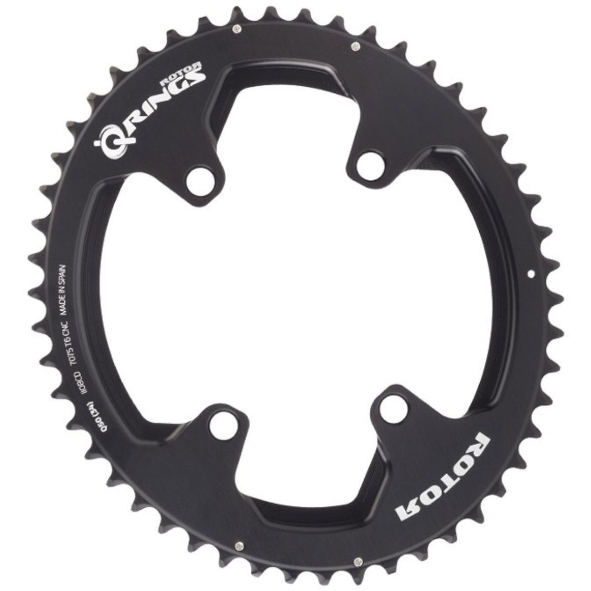 Rotor Rotor Q RINGS BCD110x4 Q50T(34) OUTER BLACK   Chain Rings