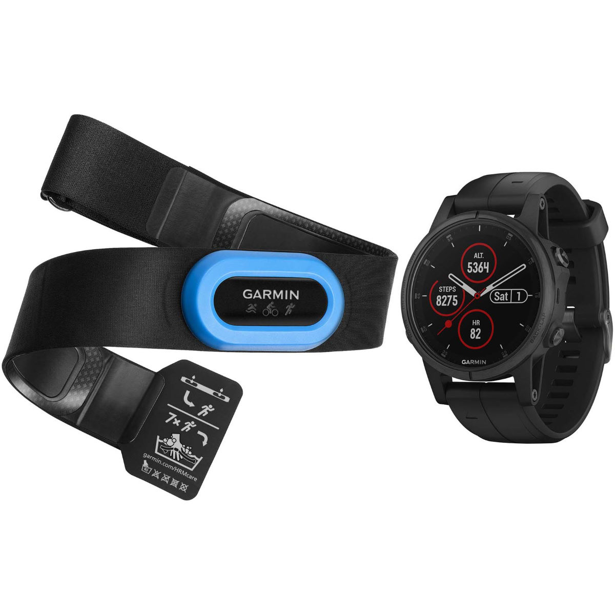Garmin Garmin Fenix 5S Plus Sapphire Performer Bundle   Watches