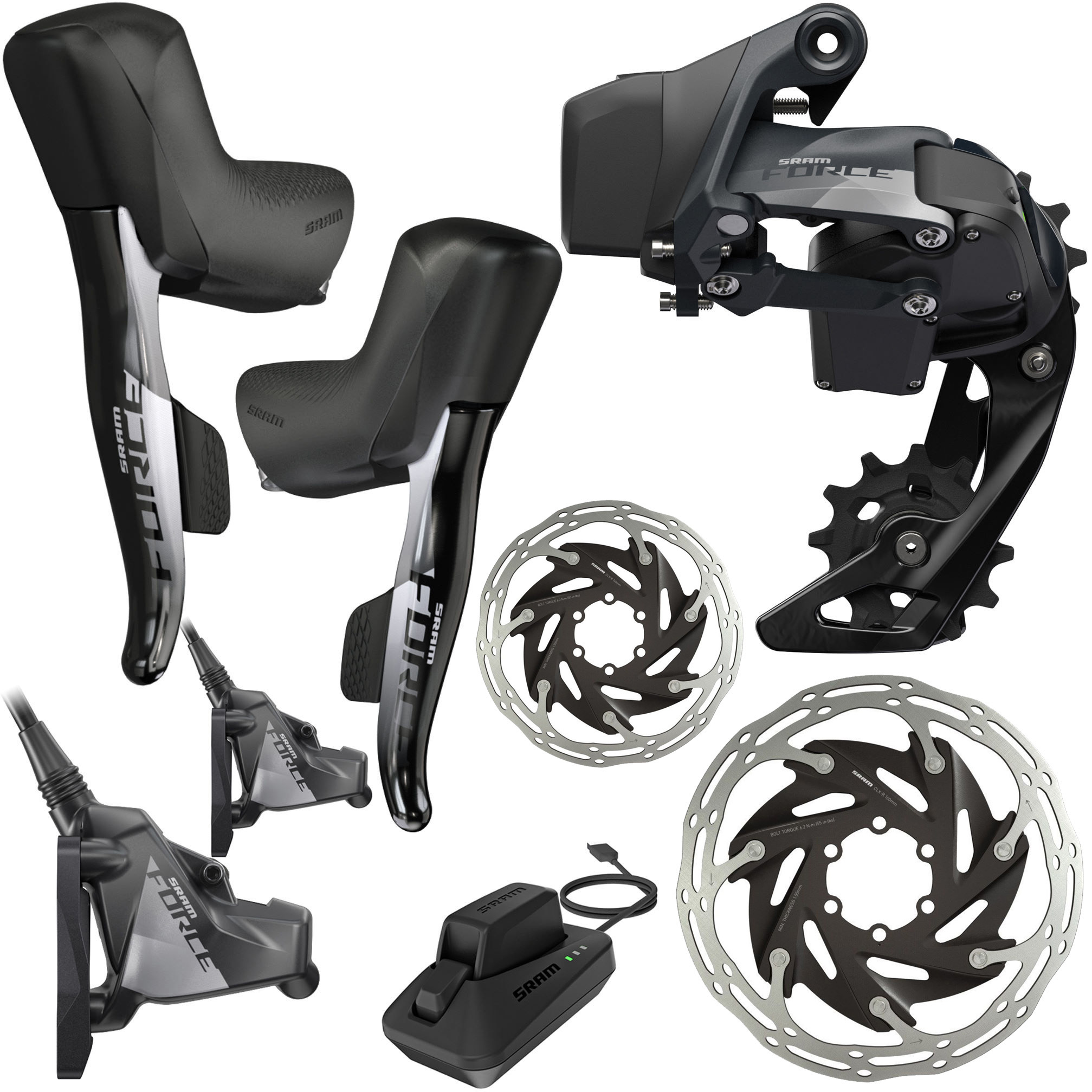 SRAM Force eTap AXS HRD FM 1x 12Sp Groupset | Groupsets