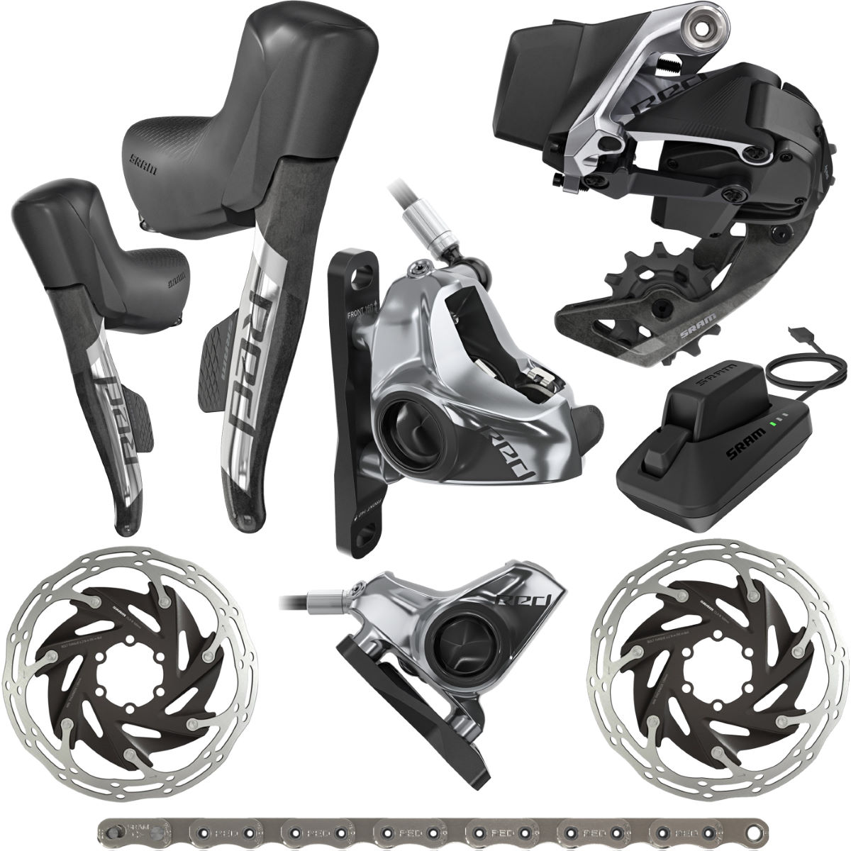 SRAM SRAM Red eTap AXS HRD FM 1x 12Sp Groupset   Groupsets