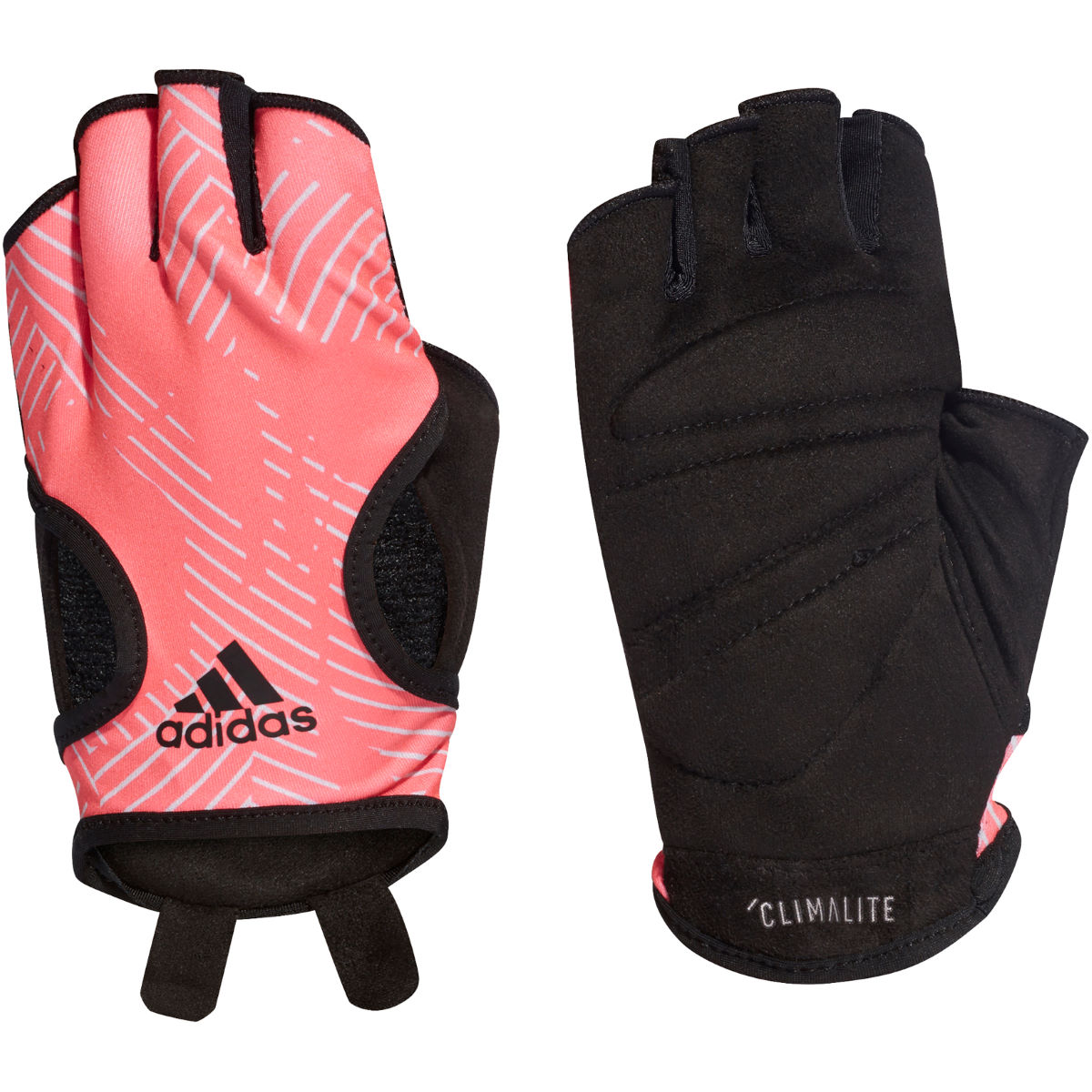 Image of adidas Training Climalite Gloves - Large Shock Red/Raw White/ | Gloves