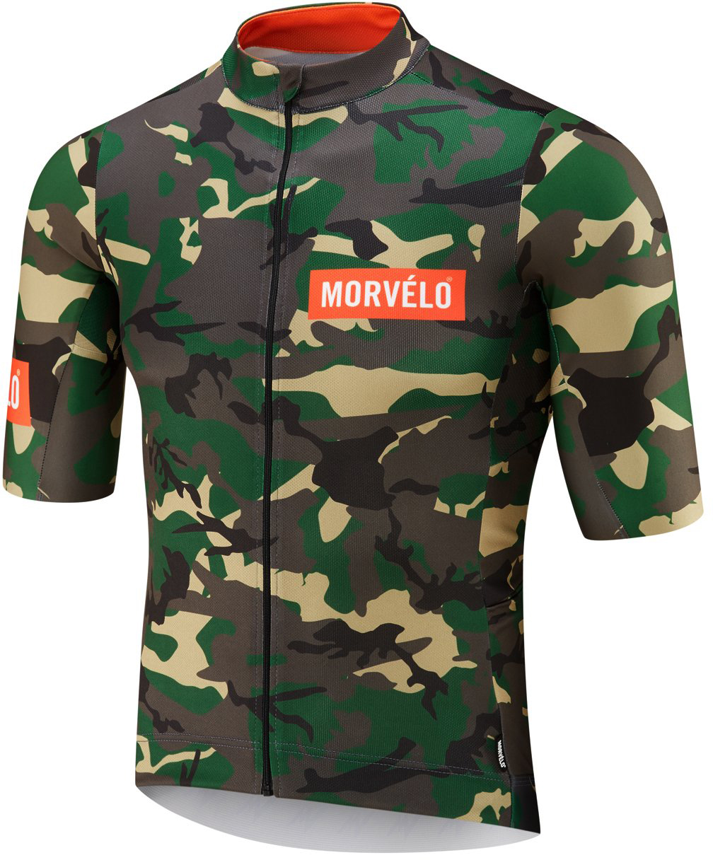 Morvelo NTH Series Camo Short Sleeve Jersey Green/Brown L | Trøjer