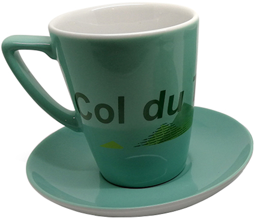 Cycling Souvenirs Col du Tourmalet Cappuccino Cup and Saucer | Multimedier > Tilbehør