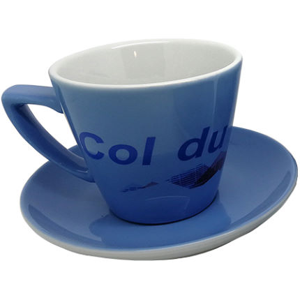 Cycling Souvenirs Col du Galibier Cappuccino Cup and Saucer