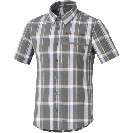 Shimano Transit Short Sleeve Check Button Up Shirt