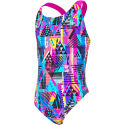 Zoggs Girls Labrynth Flyback Swimsuit
