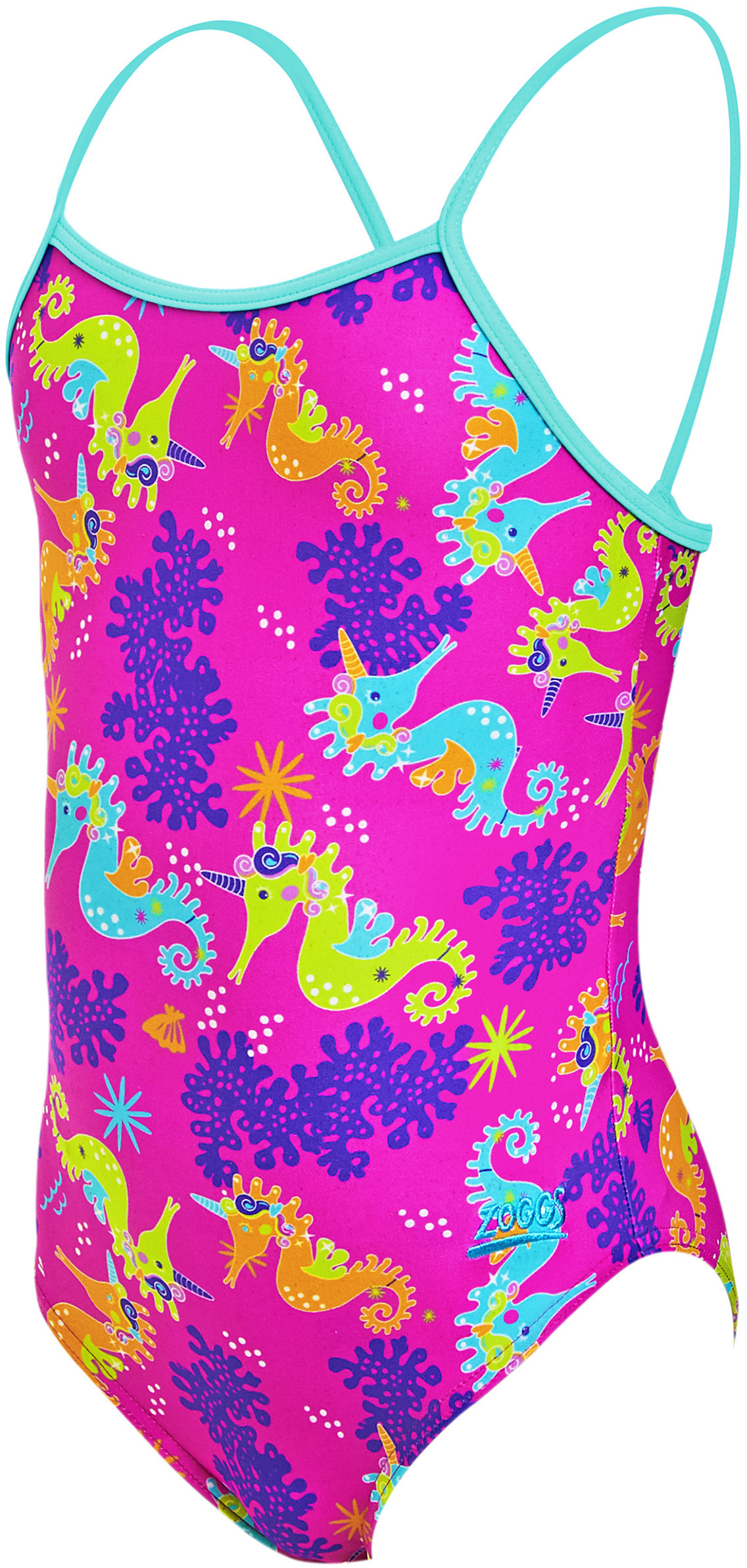 Zoggs Girls Sea Unicorn Yaroomba Floral Swimsuit | swim_clothes