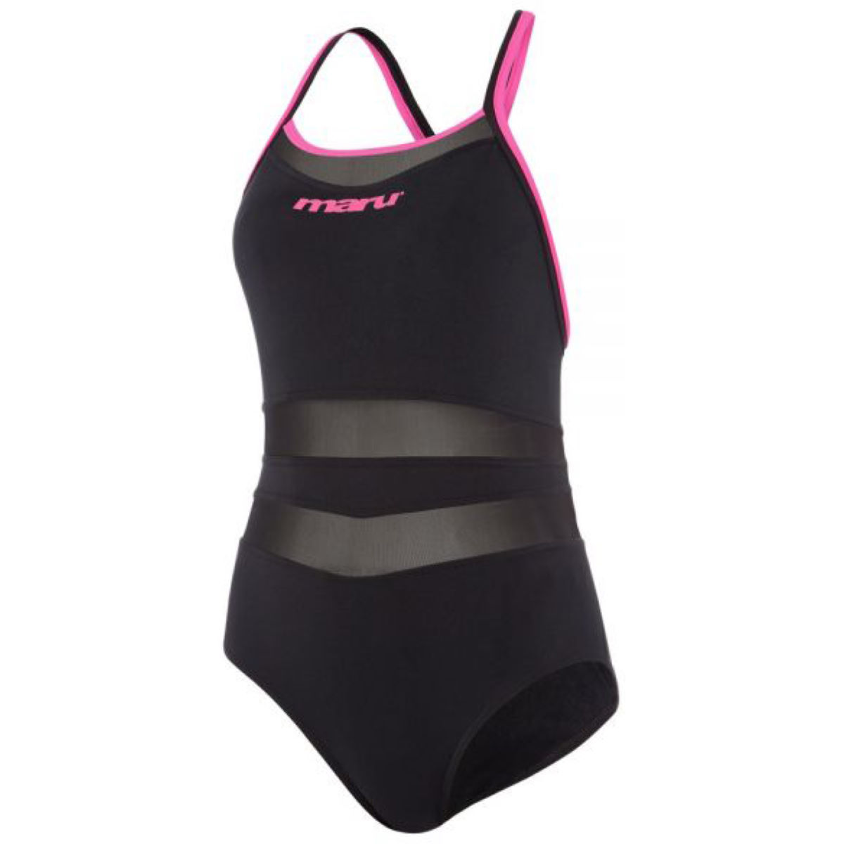 Maru Maru Panther Back Pink   One Piece Swimsuits