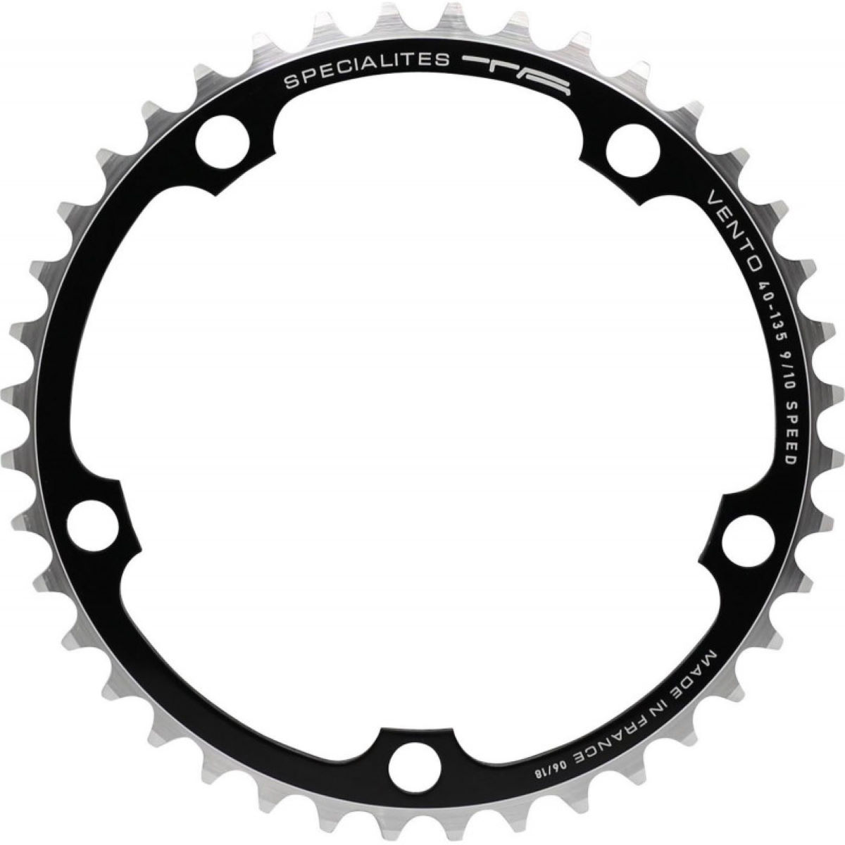 Ta Campagnolo Inner Chainring 135mm Bcd - 39t Black   Chain Rings
