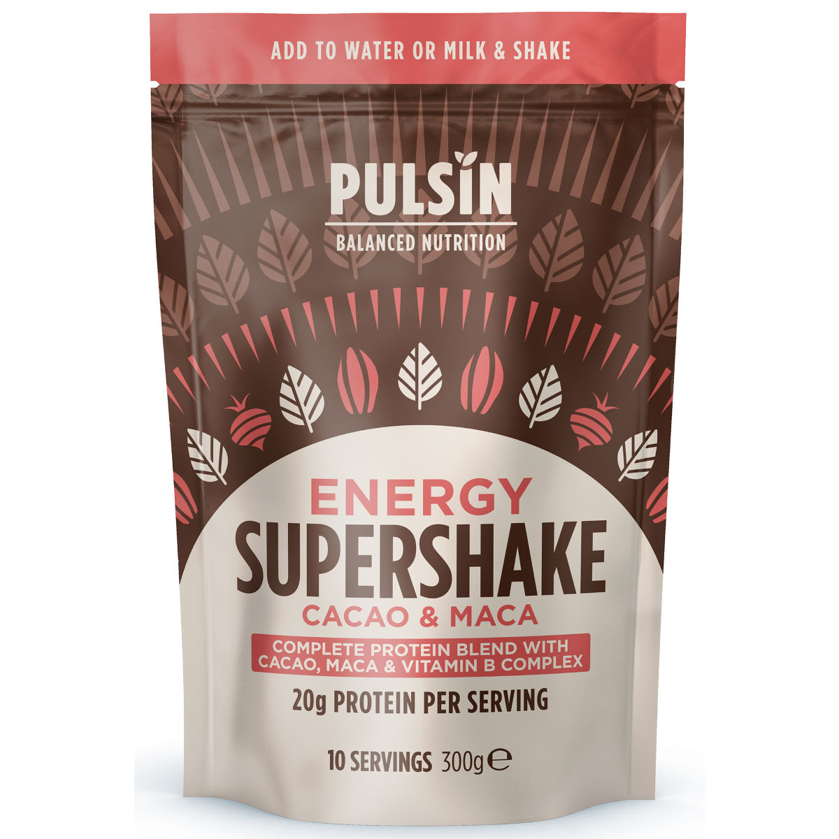 Pulsin Supershake Protein Powder (300g) - 8 X 30g  Powdered Drinks