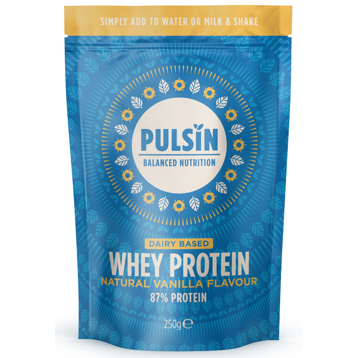 Pulsin Protein Powder (250g) - 250g Vanilla Whey  Powdered Drinks