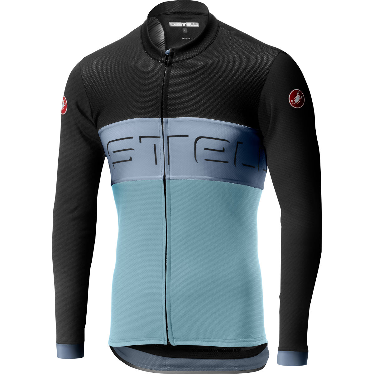 Castelli Prologo VI Long Sleeve FZ Jersey – S Dark Grey/Vortex/Win