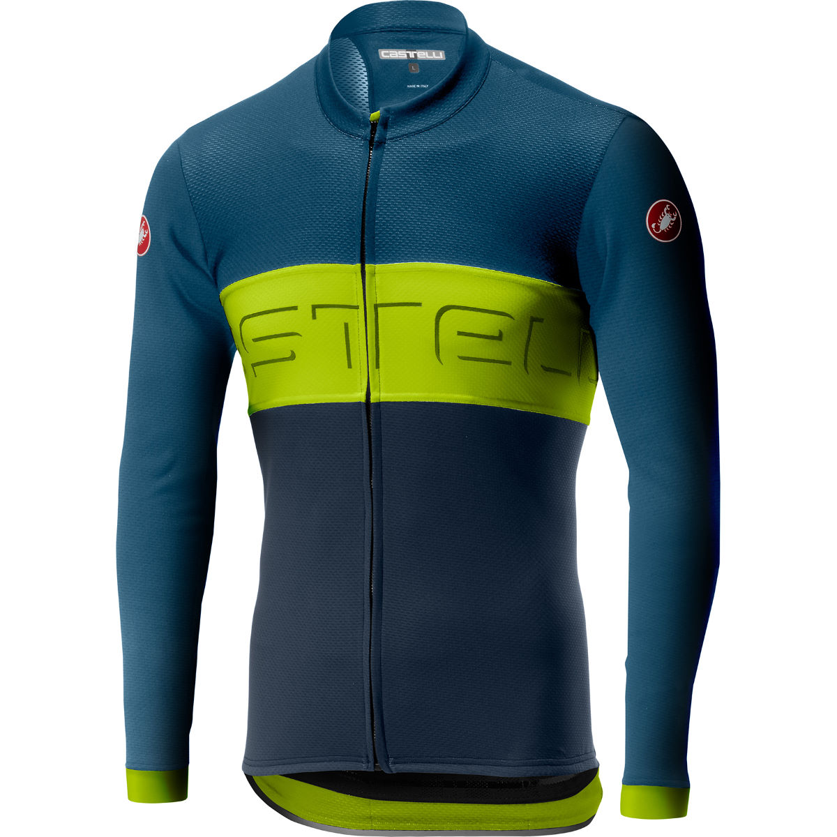 Castelli Prologo VI Long Sleeve FZ Jersey – S Light Steel Blue/Cha
