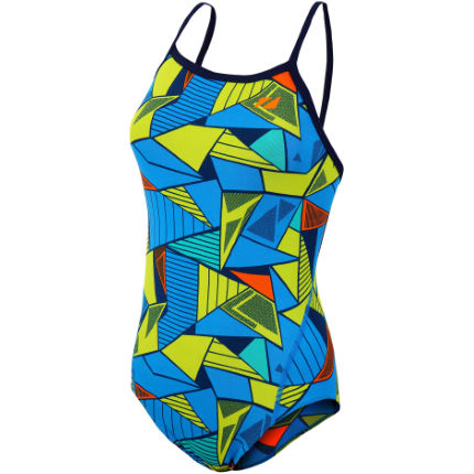 Zone3  Girls's Prism 2.0 Strap Back Swimming Costume