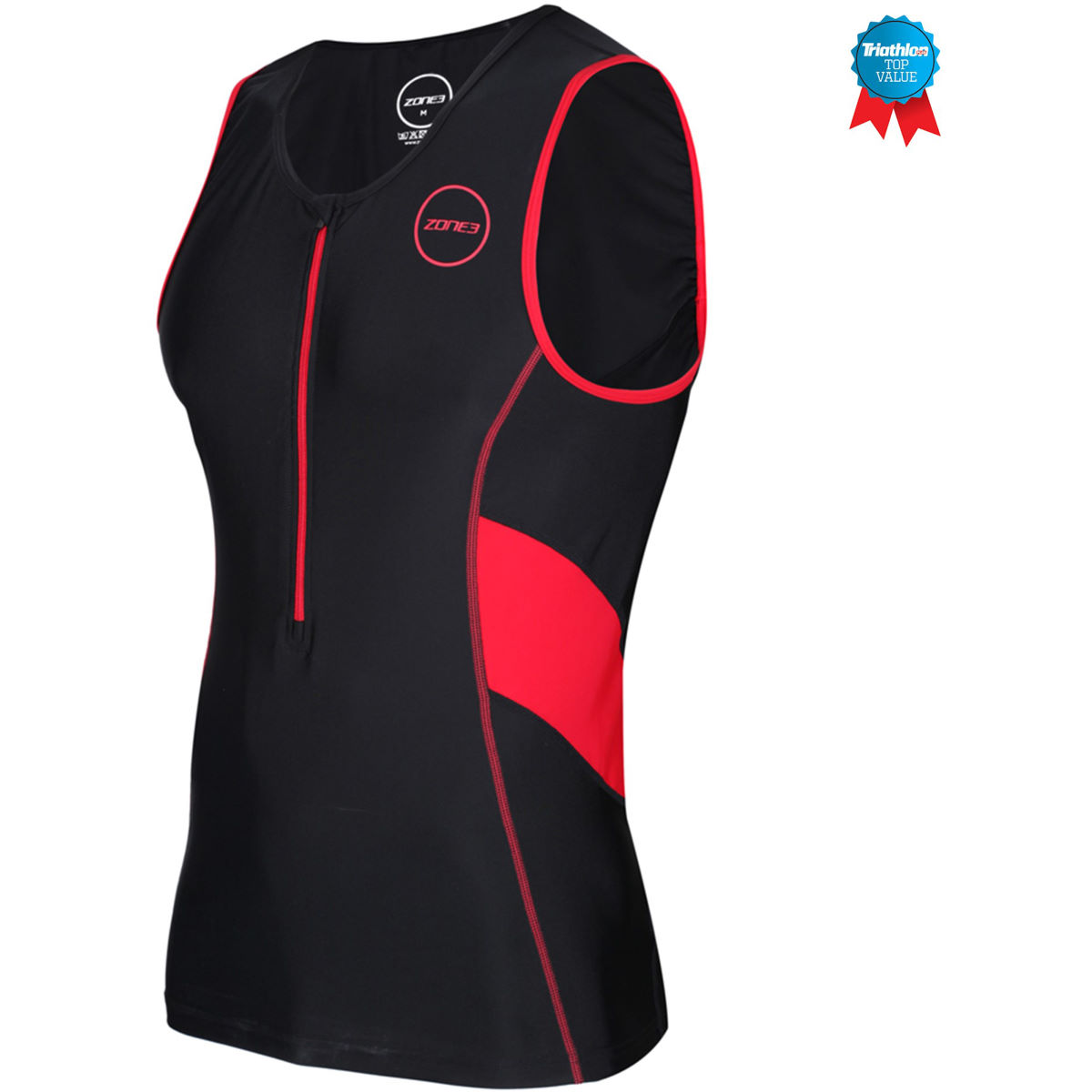 Zone3  Mens Activate Tri Top - Xl Black/red  Tri Tops