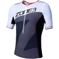 Zone3  Mens Lava Long Distance Tri Top Short Sleeve
