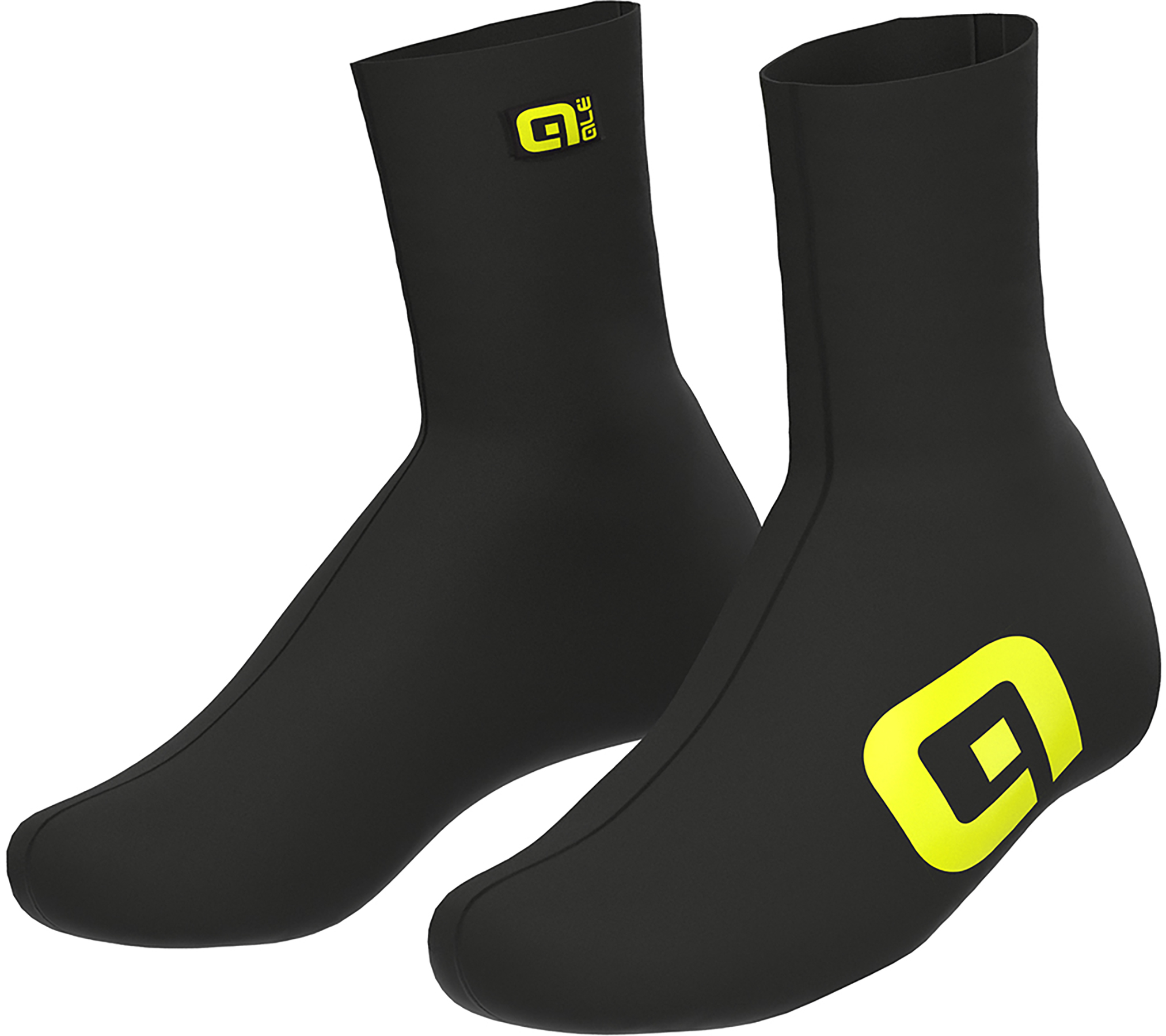 Ale Crono Overshoes - Black Yellow Fluo | Shoe Covers
