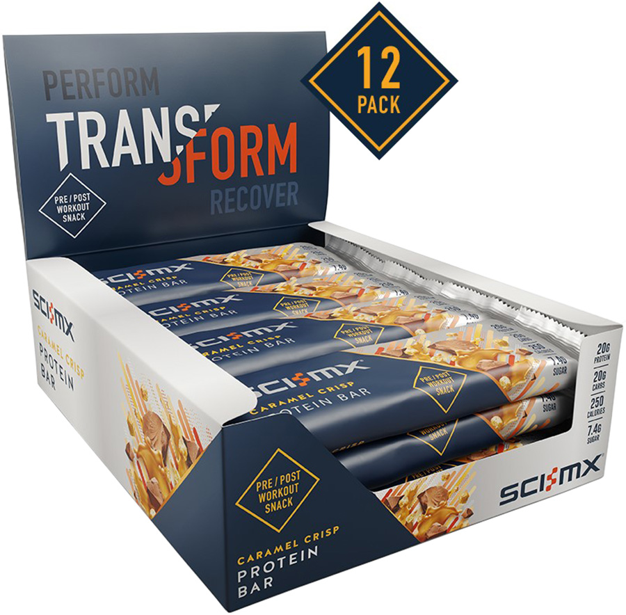 SCI-MX Caramel Crisp Protein Bar (12 x 65g) | Protein bar and powder
