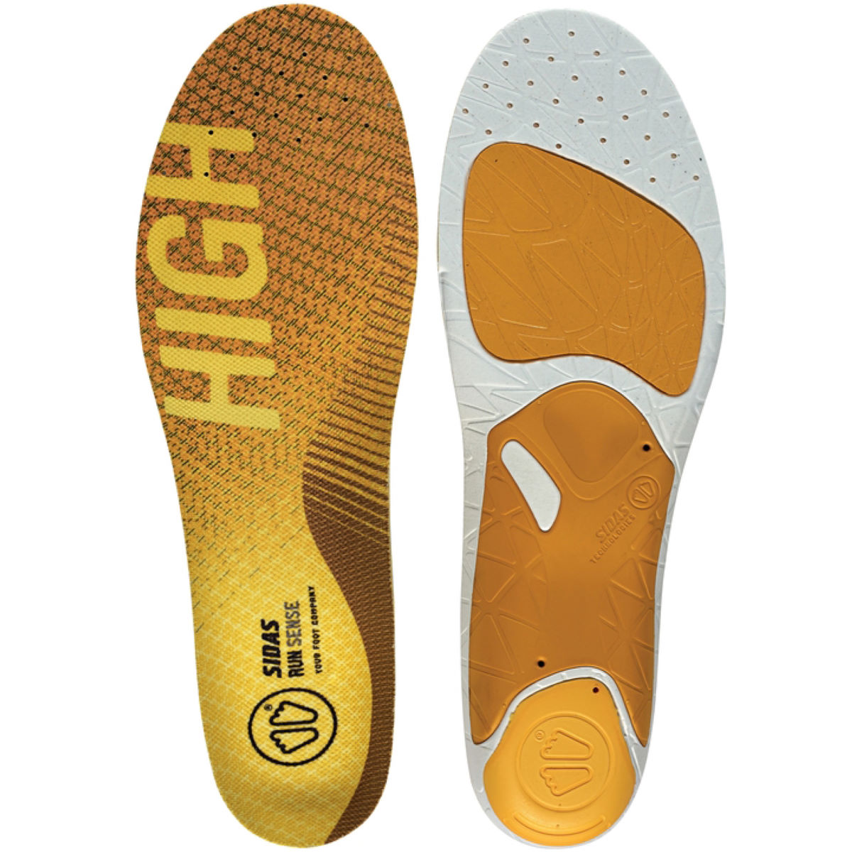 Sidas 3 Feet High Arch Run Sense Insole - Plantillas