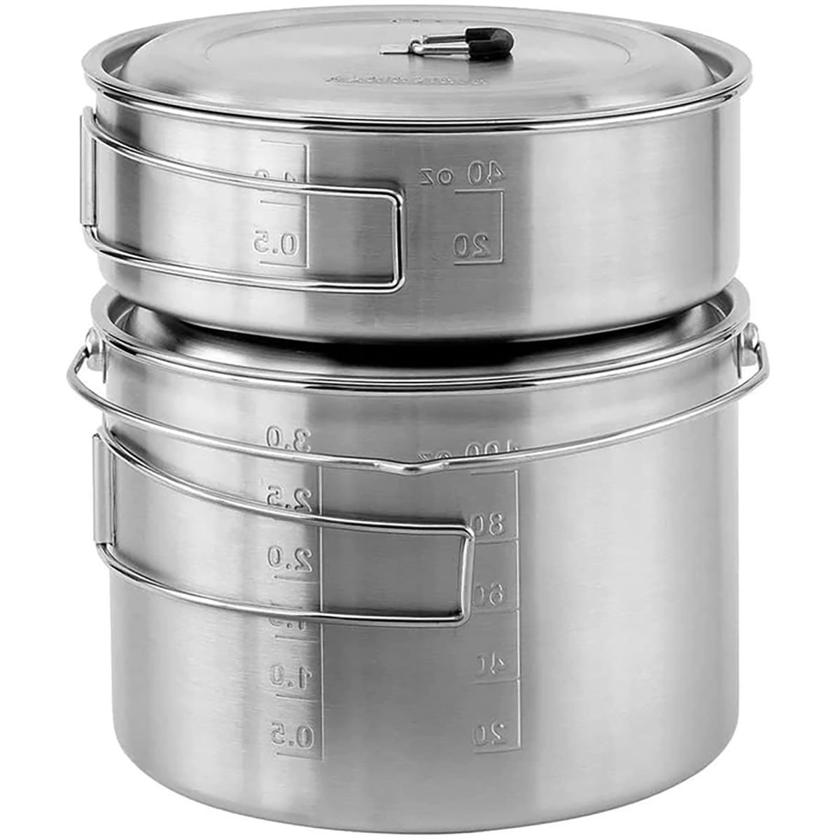 SoloStove Campfire 2 Pot Set Combo - One Size Silver | Cooksets