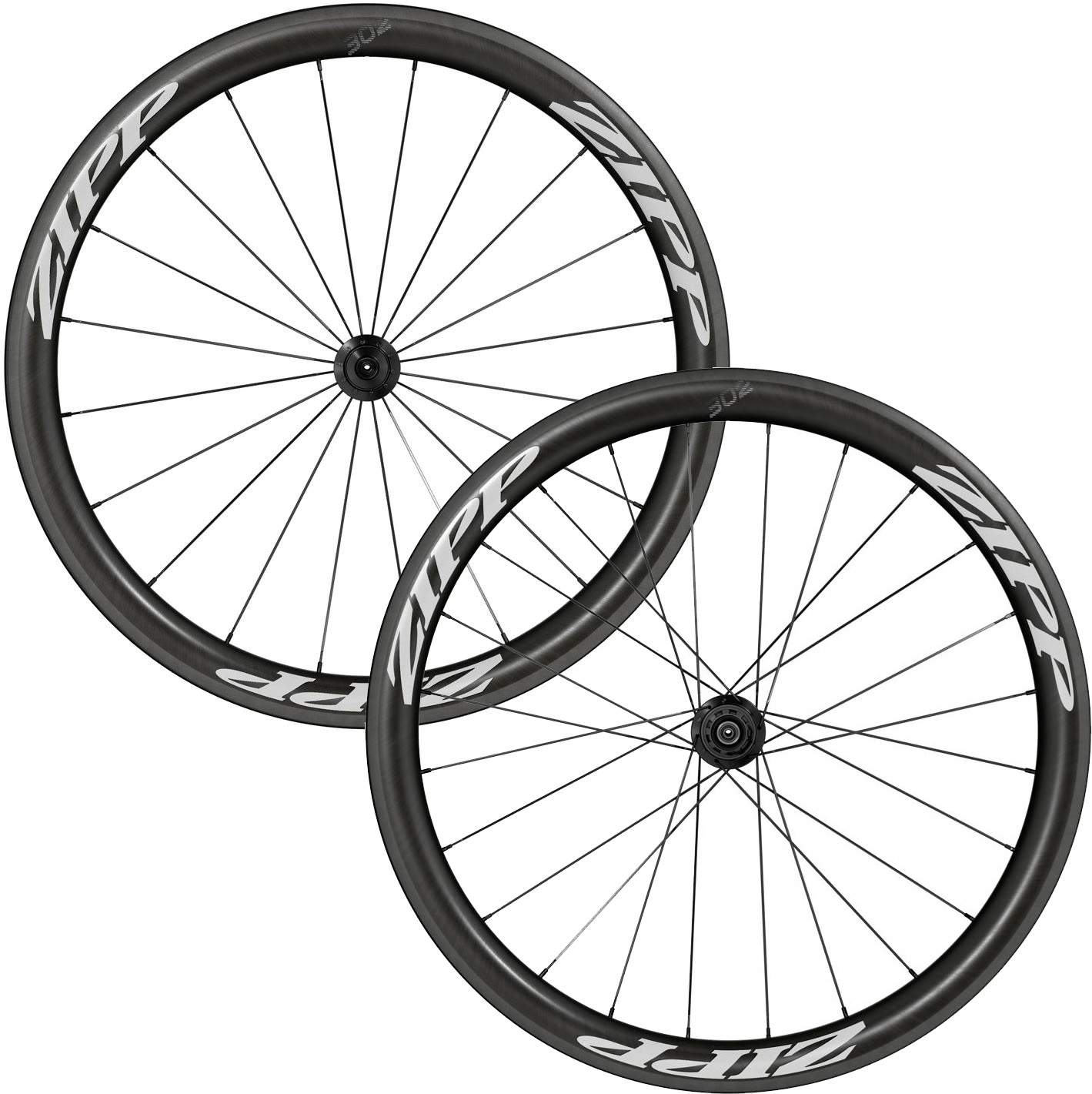 Zipp 302 Carbon Clincher Black/White Wheels | Wheelset