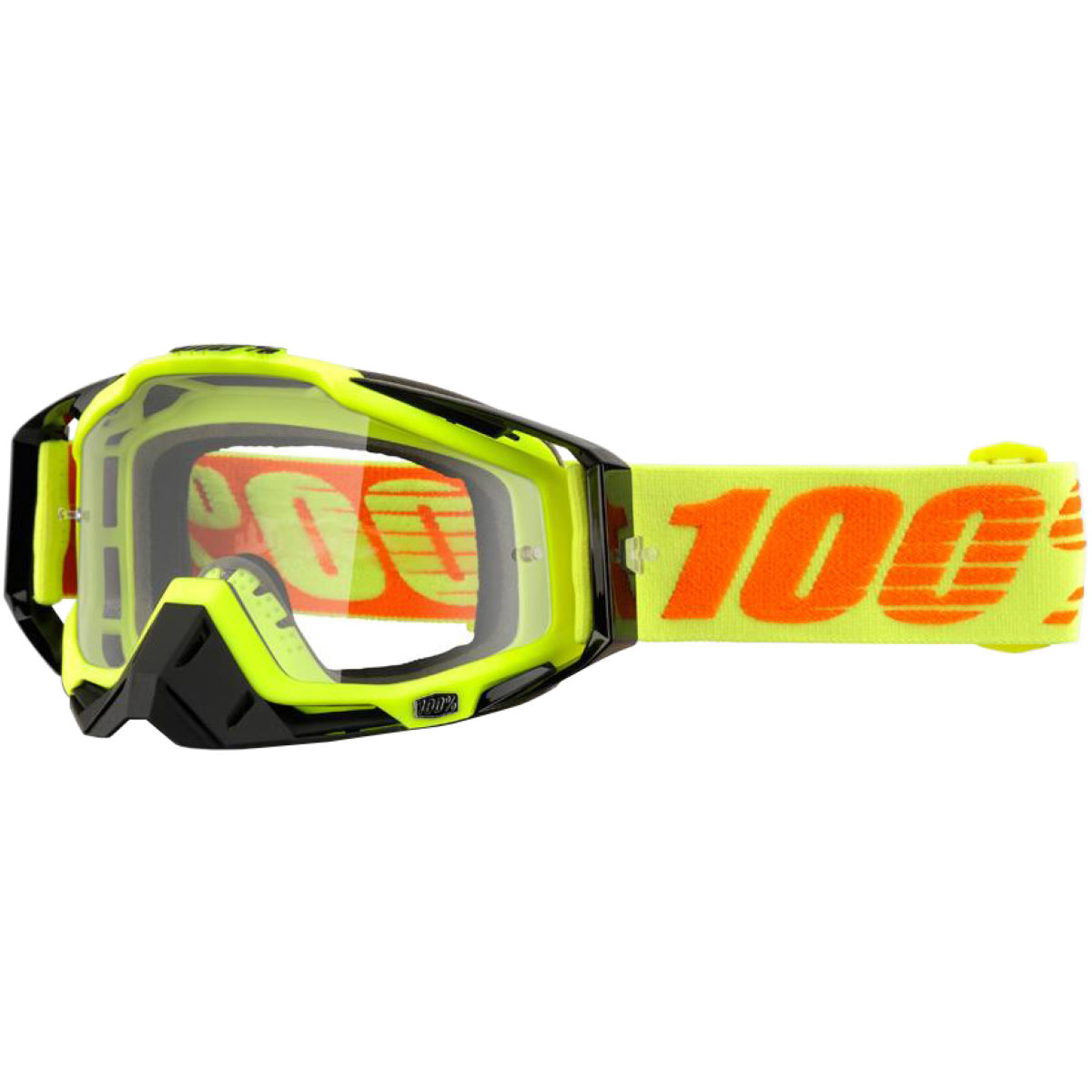 100% Racecraft Goggle - Clear Lens - One Size Attack Yellow