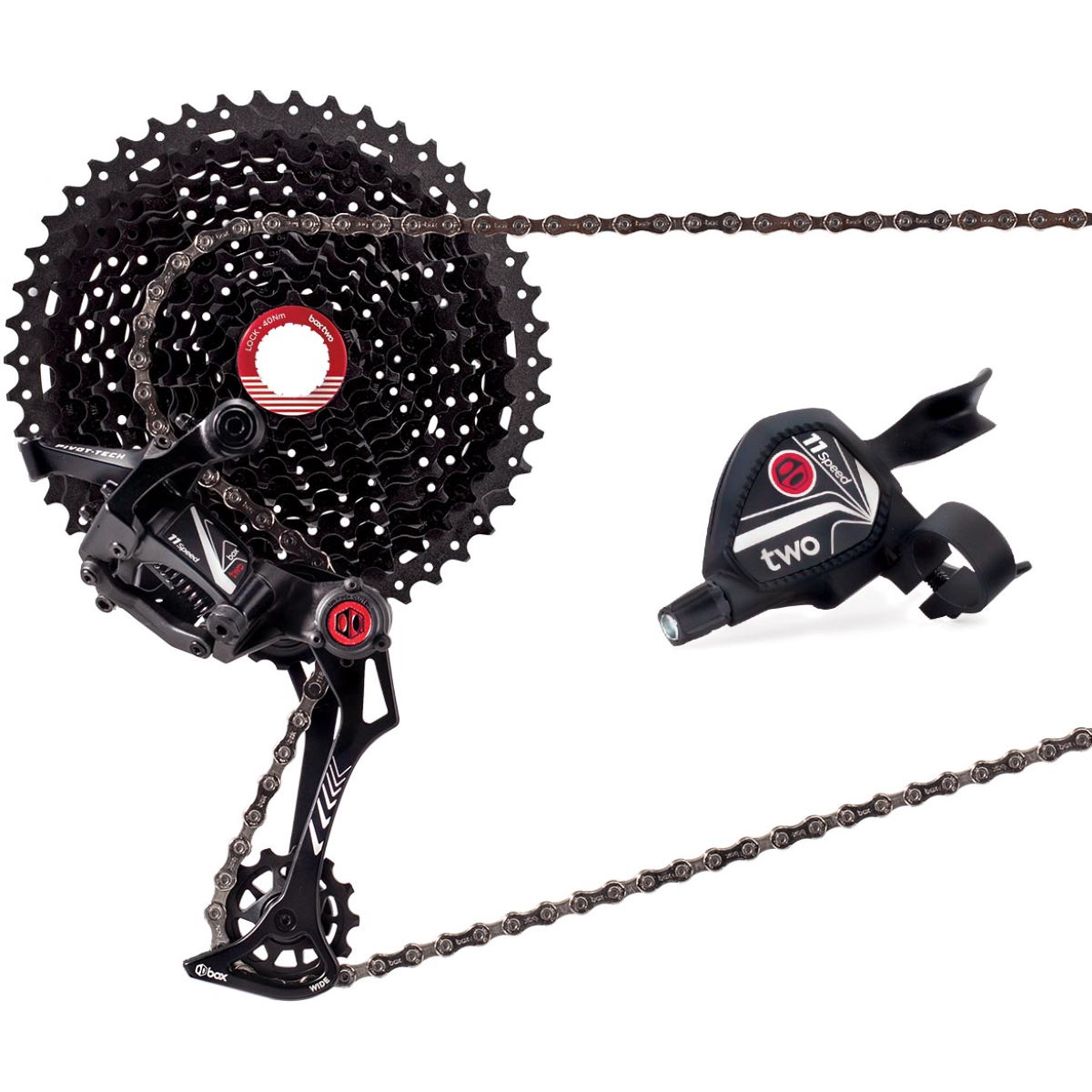 Box Two 11 Speed Wide Drivetrain Groupset – 11-46t Black | Groupsets