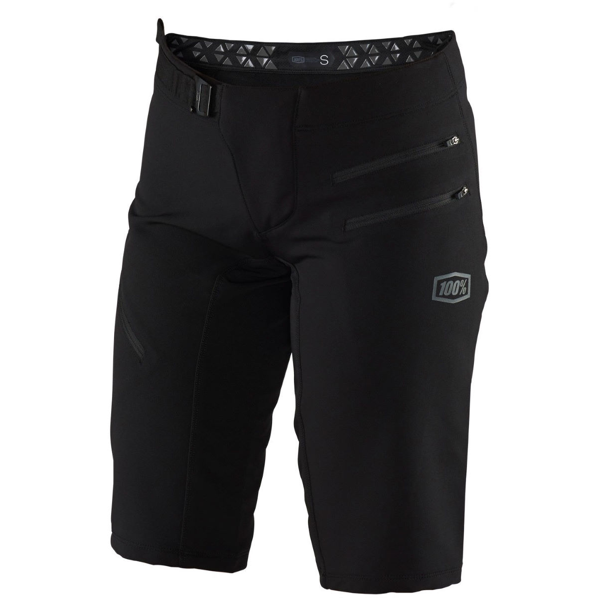 100% Womens Airmatic Shorts - L Black  Baggy Shorts