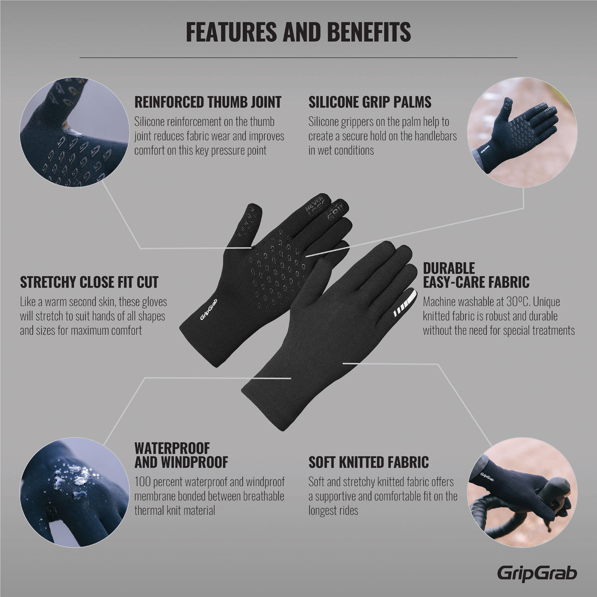 GripGrab GripGrab Waterproof Knitted Thermal Glove   Gloves