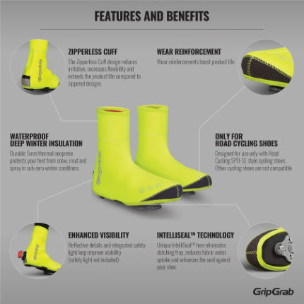 GripGrab Arctic Waterproof Deep Winter Hi-Vis Shoe Cover