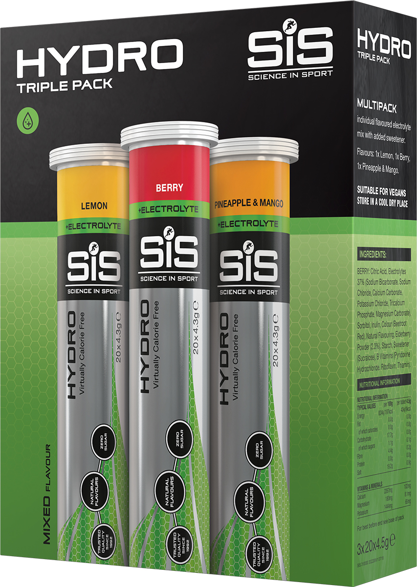Science in Sport Hydro triple mixed pack | Drikkesystemer
