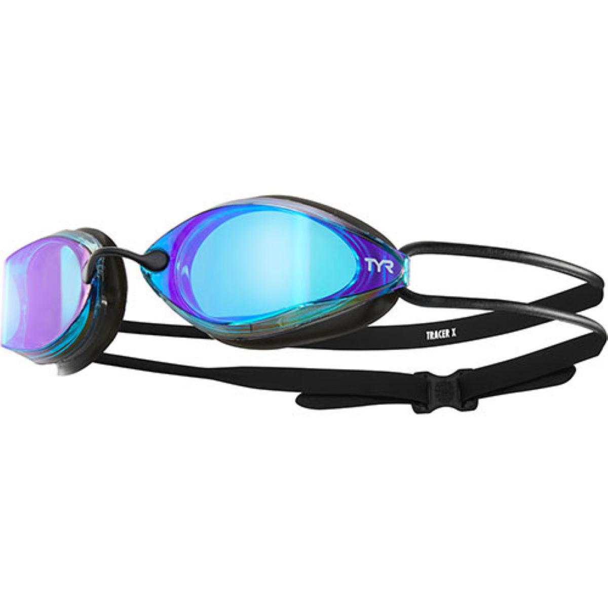 Tyr Tracer X Racing Mirrored Goggles - One Size Blue/black/black