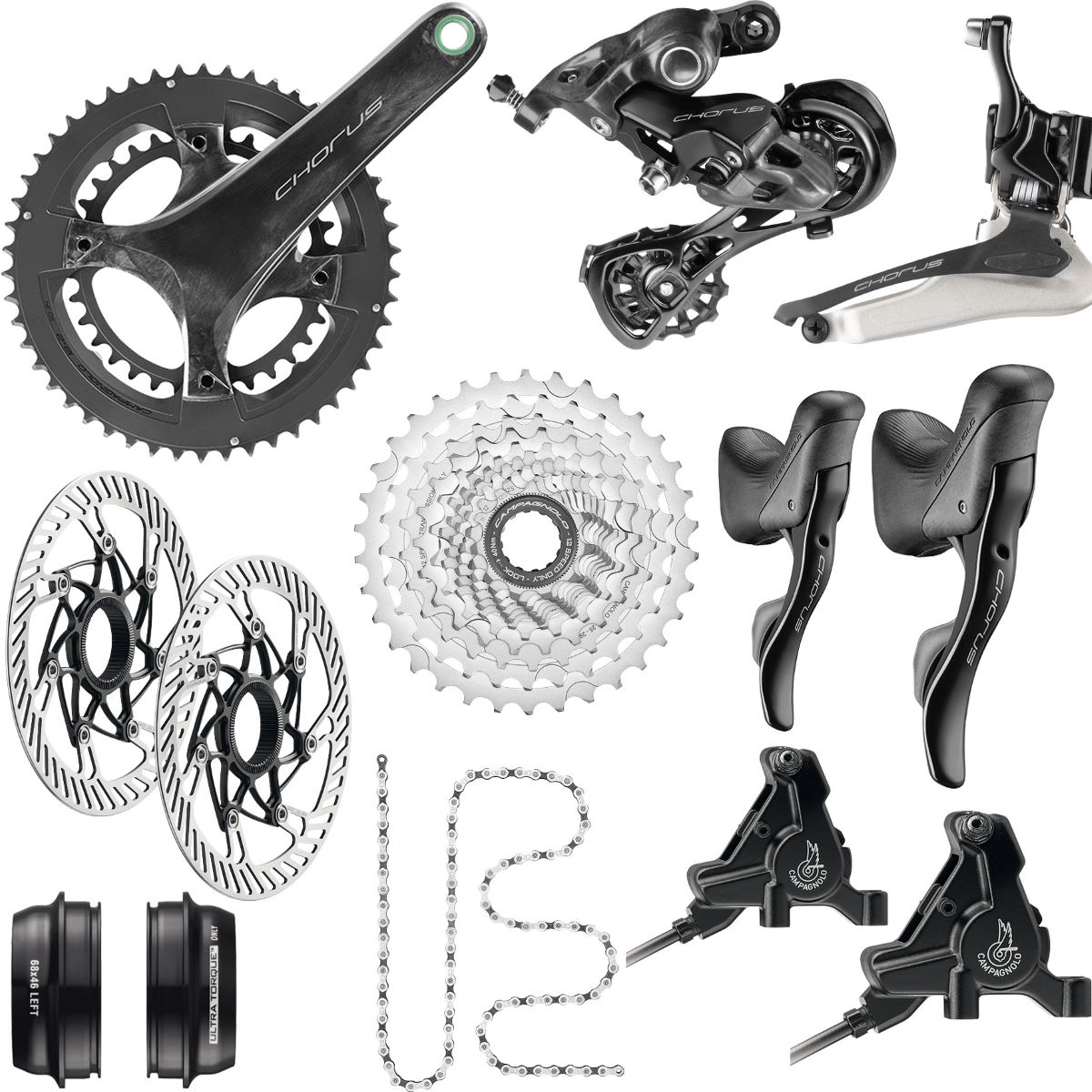 Campagnolo Campagnolo Chorus 12 Speed Disc Groupset   Groupsets