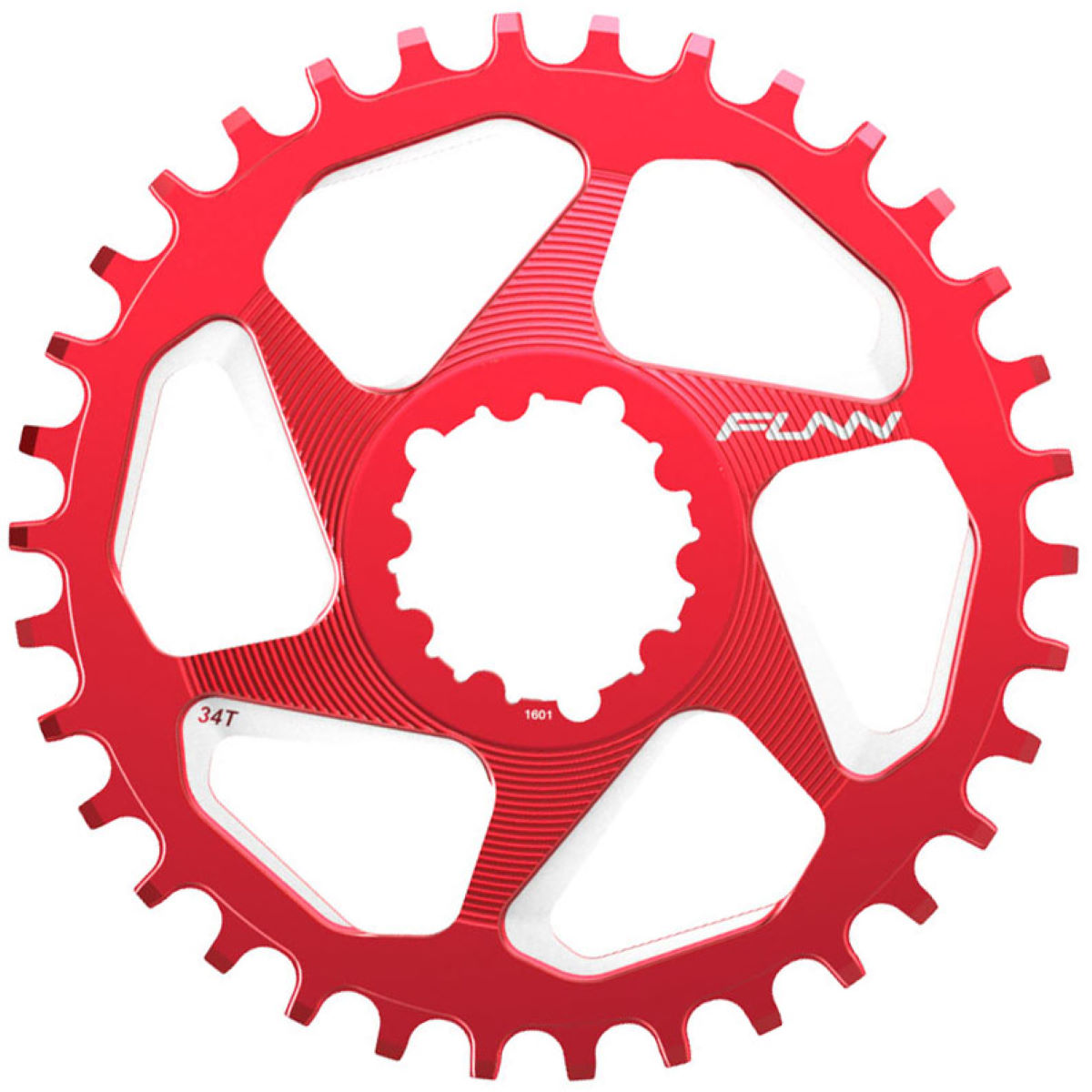 Funn Solo Dx Narrow Wide Chainring - 30t Red  Chain Rings
