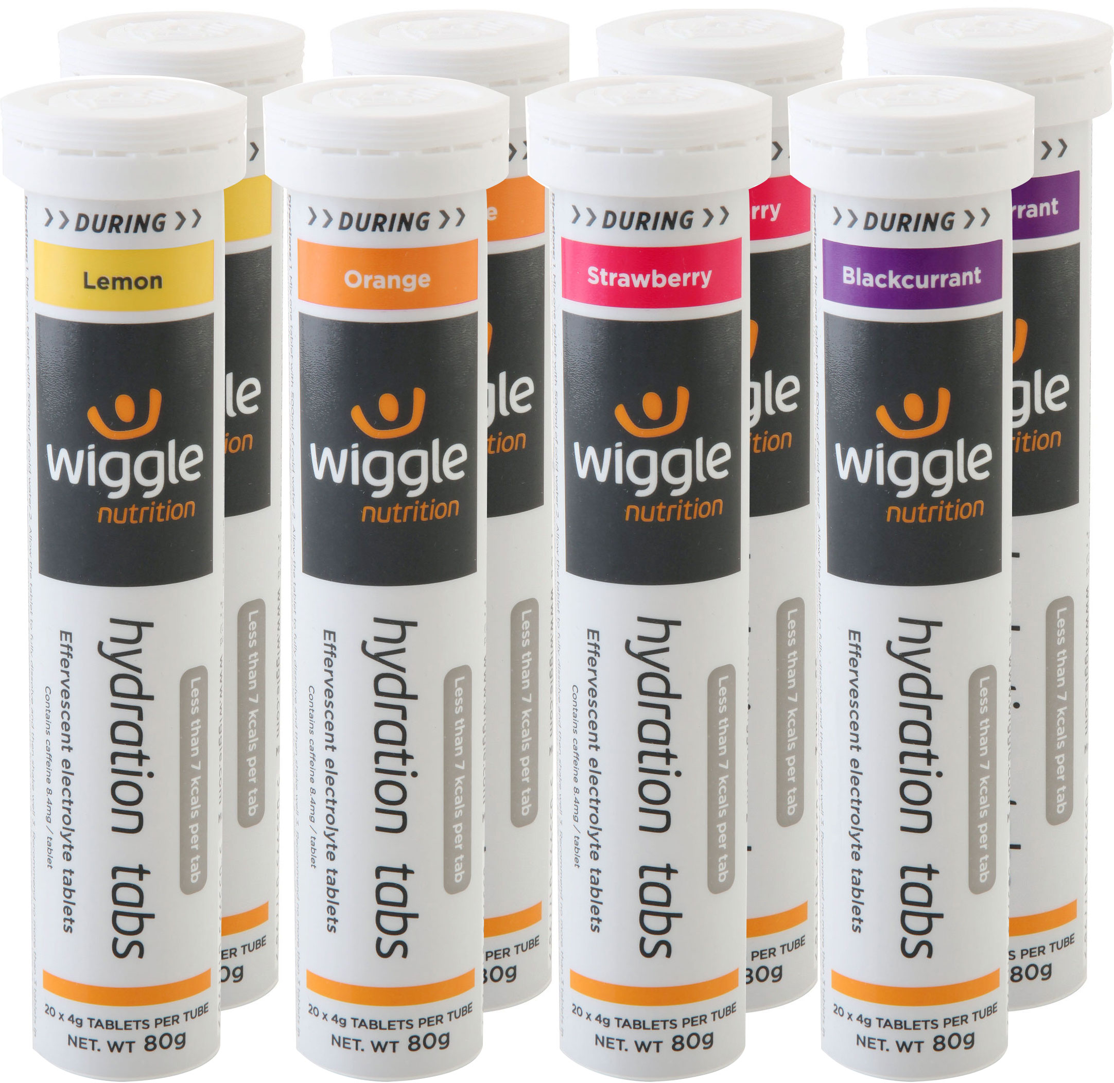 Wiggle Nutrition Hydration Tabs Mixed (8 x 20 Tabs) |