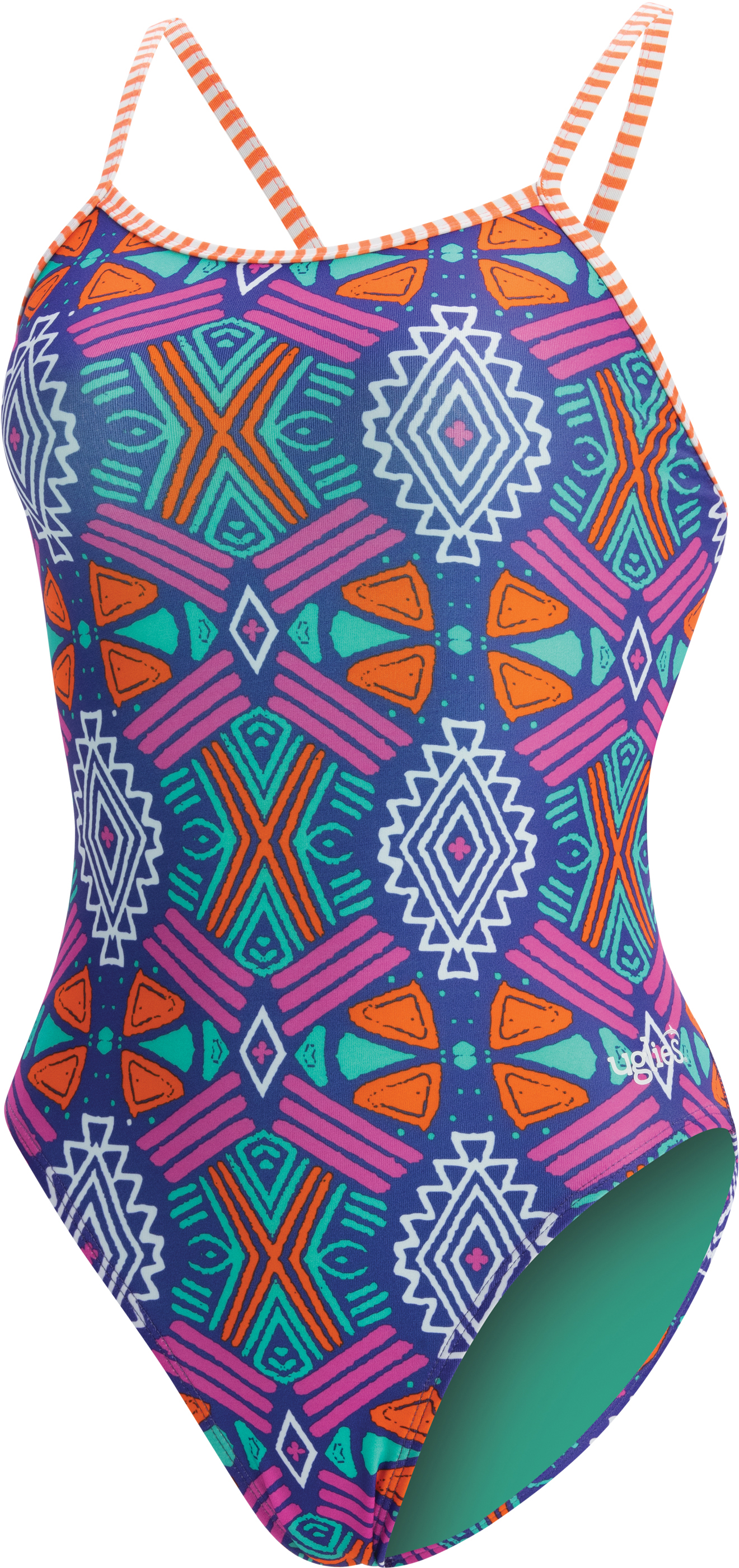 Dolfin Women's Uglies print string back 1 piece Maya swim | swim_clothes