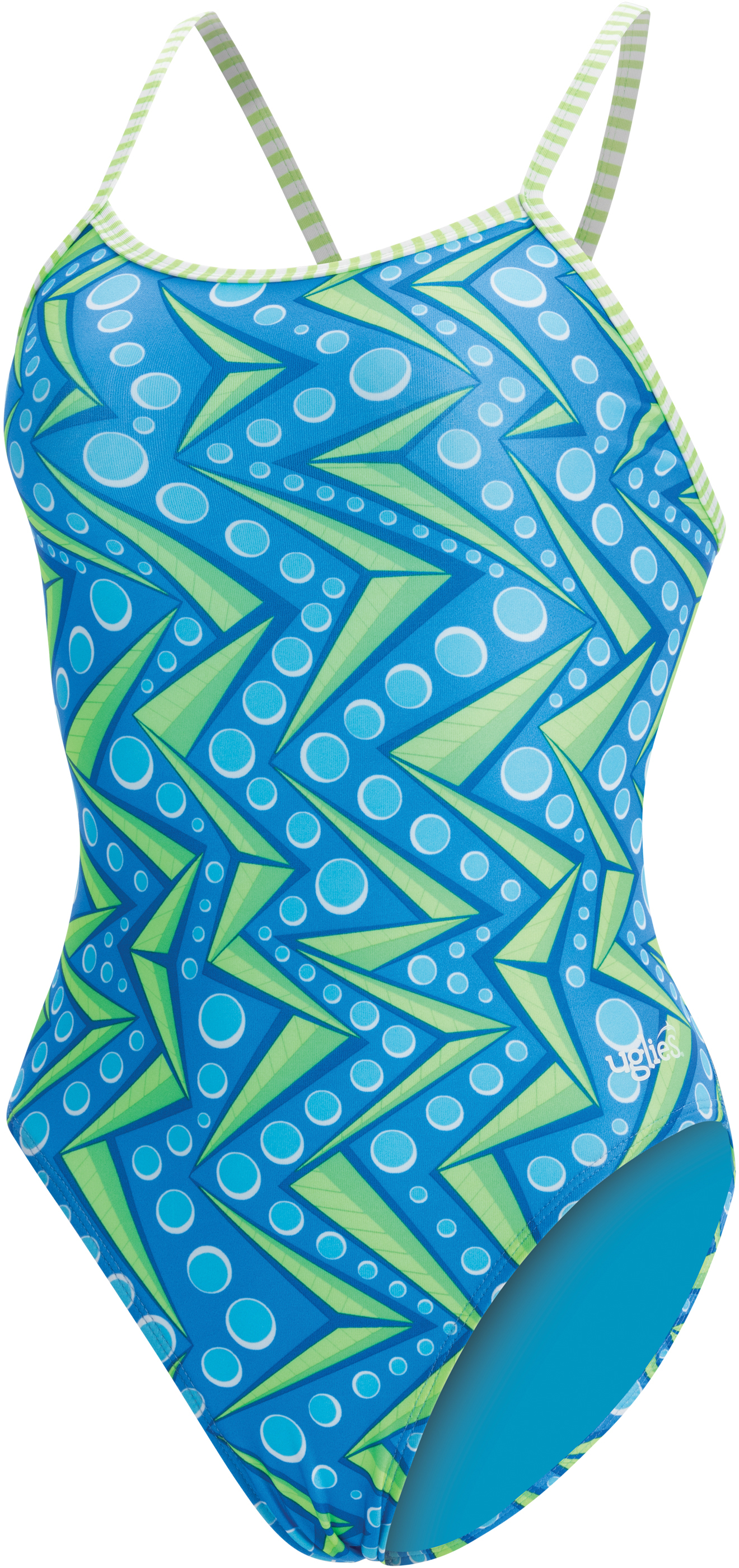 Dolfin Women's Uglies print string back 1 piece Zenon swi | swim_clothes