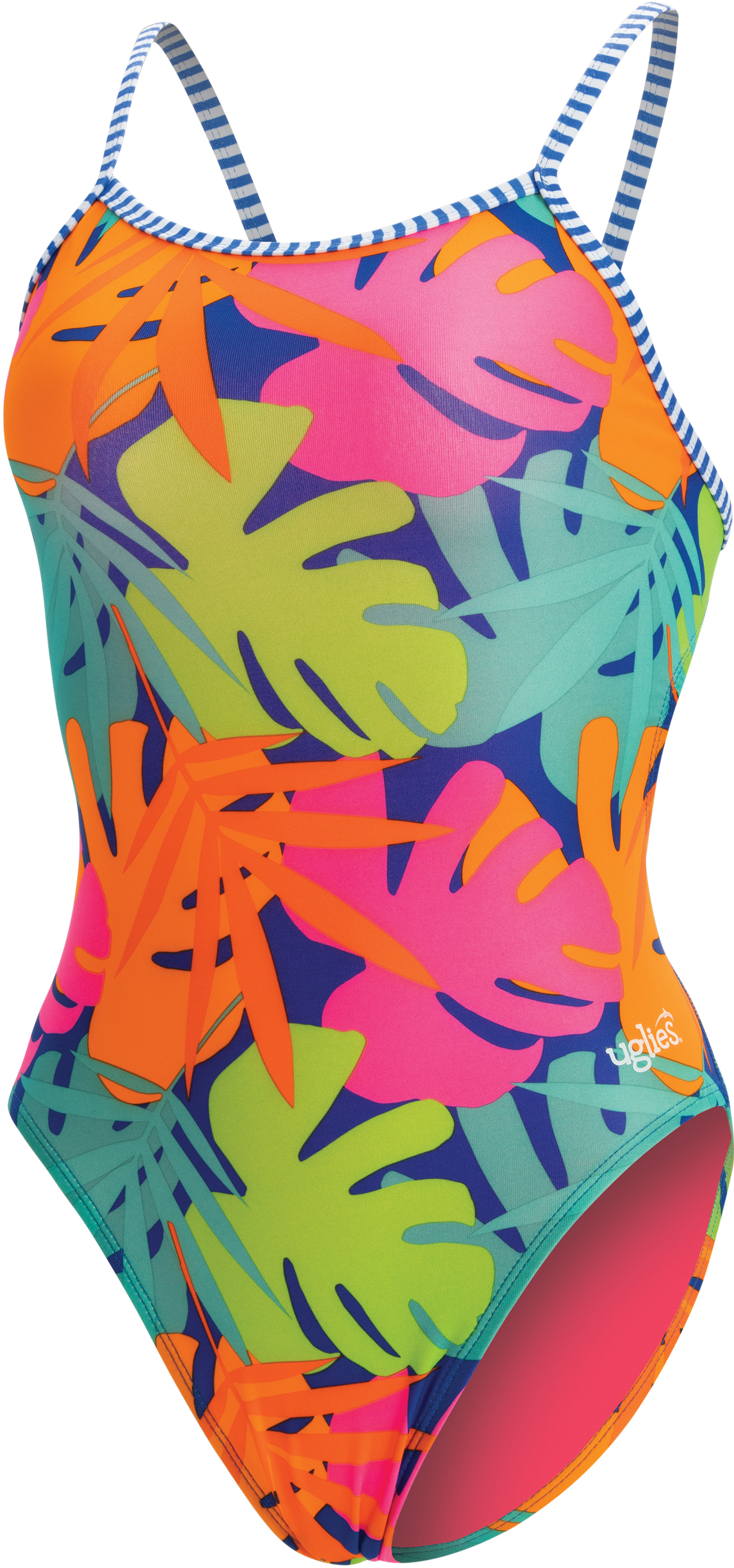 Dolfin Women's Uglies Print Double Strap Back 1 Piece Tro | swim_clothes