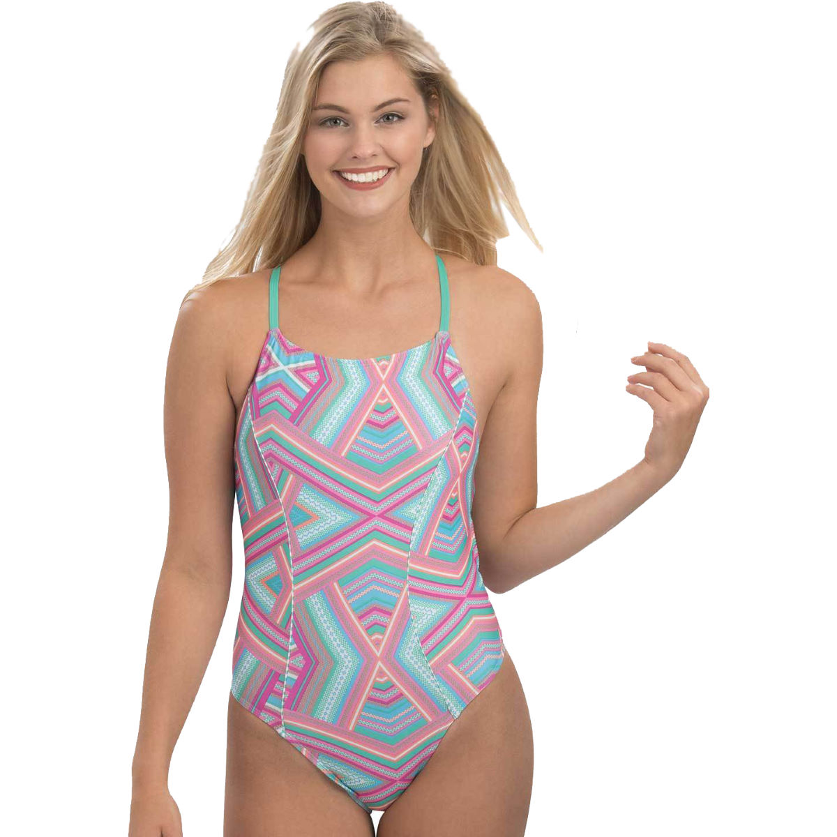 Dolfin Women's Uglies Print Diamond Back Glamazon Swimsui   One Piece Swimsuits