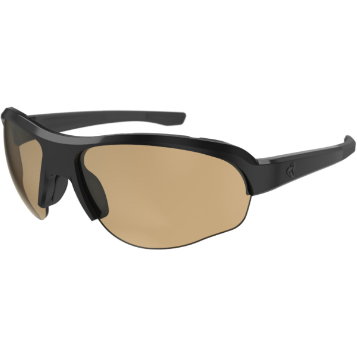 Ryders Eyewear Flume Photo Black/Light Brown Lens 71%-27%   Sunglasses
