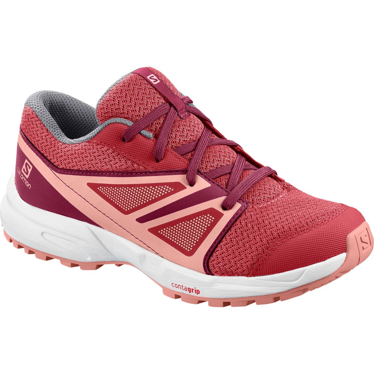 Salomon Kids Sense Shoes - 2.5 Garnet Rose/ Beet Re  Running Shoes
