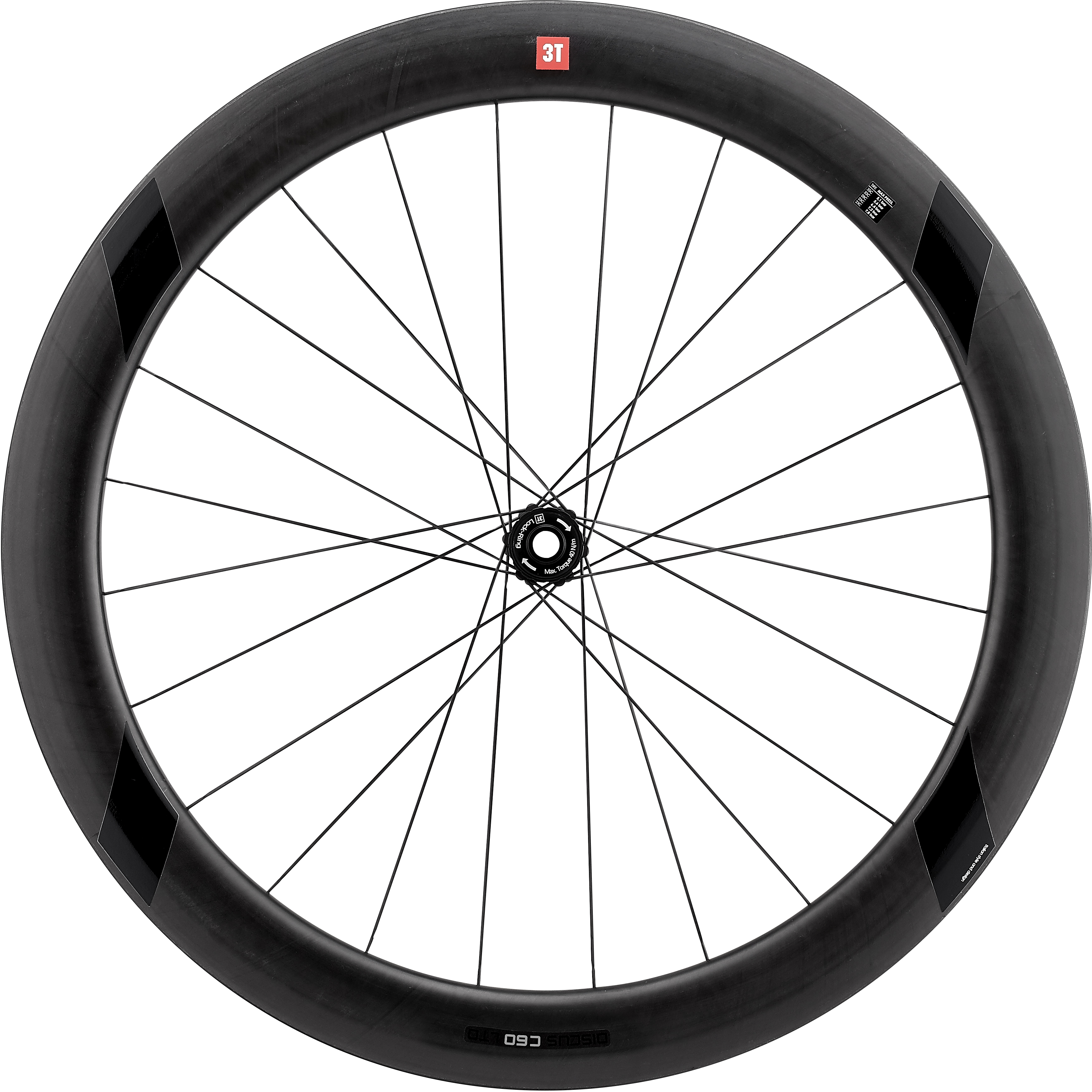 3T R Discus C60 TR Team Stealth Front Wheel | Hjulsæt
