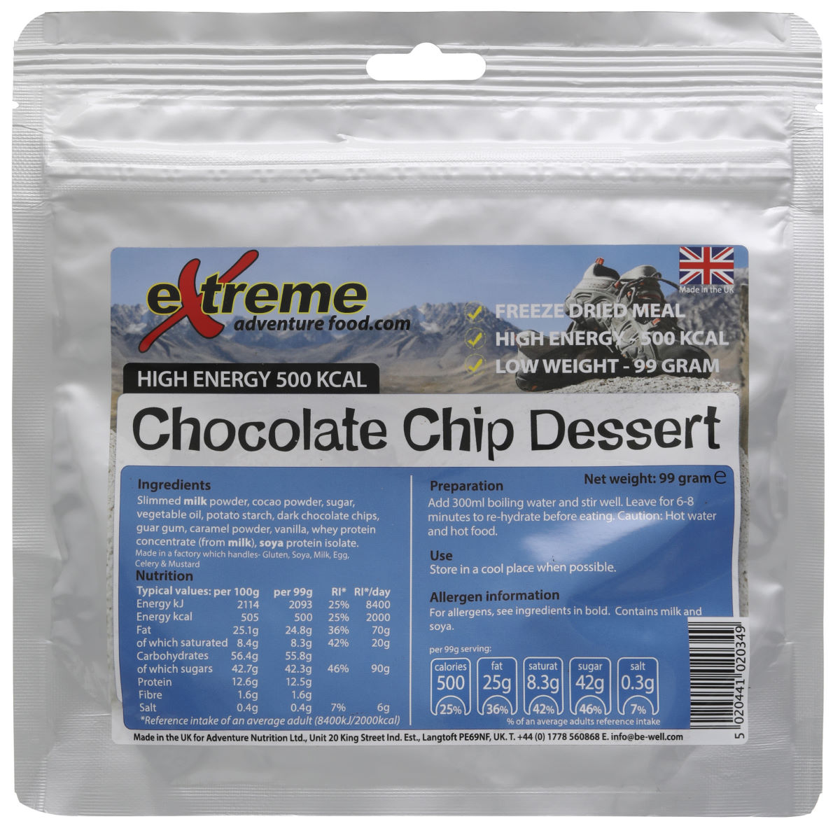 Extreme Food Extreme Food Freeze Dried Food High Energy 500Kcal Dessert   Dehydrated Food